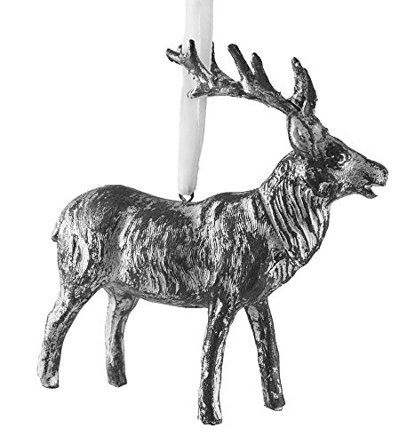 Creative Co-op Silver Resin Reindeer Ornament