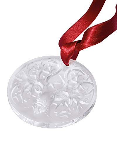 Lalique 2019 Annual Noel Christmas Ornament Frosted Reindeer #10685800