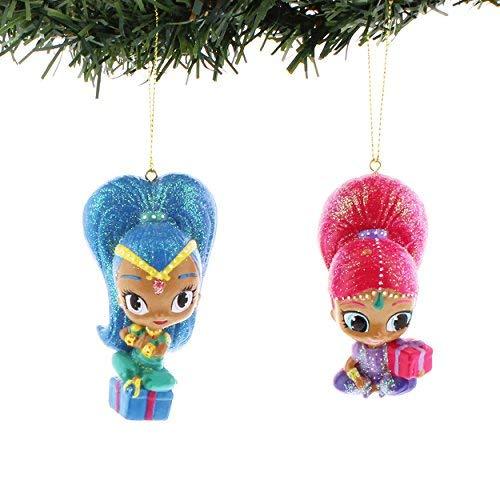 Kurt Adler 3.5-Inch Shimmer and Shine Christmas Ornament Set of 2
