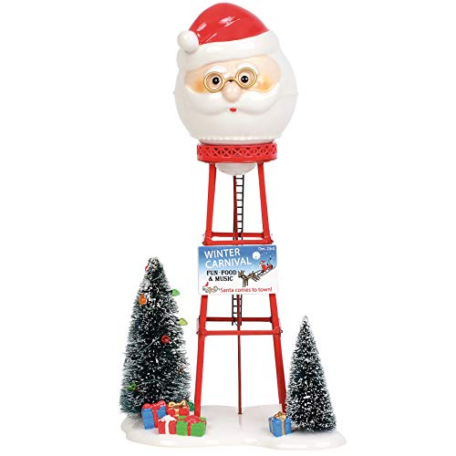 Department 56 Village Collections Accessories Santa Water Tower Figurine, 11.42″, Multicolor