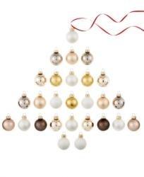 Holiday Lane Set of 27 Mini Metallic Glass Ball Ornaments