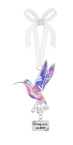 Ganz Decor Life is Beautiful Hummingbird Ornament 3.75″ H (All Things Grow with Love)