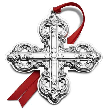 Wallace 2019 Grande Baroque Cross-24th Edition Holiday Ornament, Metal