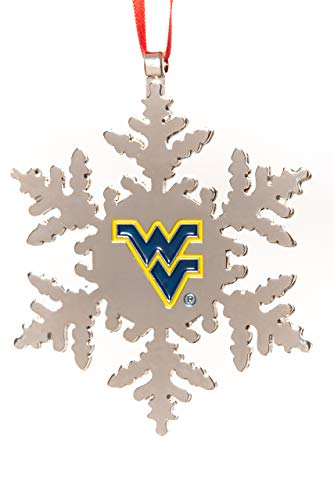Collegiate Pulse WEST Virginia Mountaineers NCAA Snowflake Christmas Ornament