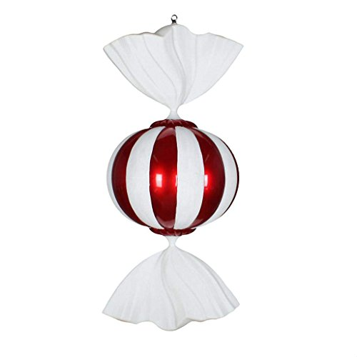 Vickerman 541357-36″ Red/White Candy Christmas Tree Ornament (M180101)
