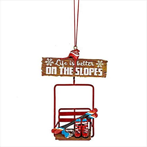 Midwest-CBK 5″ Life Is Better On The Slopes Christmas Ornament 150386