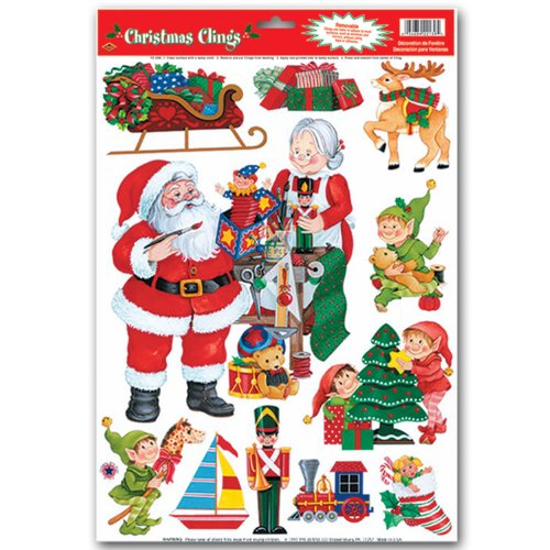 Santa's Workshop Clings Party Accessory (1 count) (11/Sh)