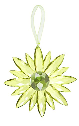 Flower Small Crystal Expressions 5 Inch Acrylic Hanging Jewel Ornament – Green