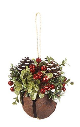 Ganz Rustic Mistletoe Sleigh Bell