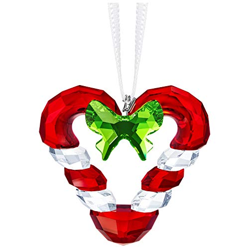 Swarovski Authentic Merry and Festive Joyful Ornament Heart Candy Cane