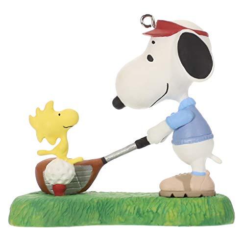 Hallmark Keepsake Christmas Ornament 2019 Year Dated Peanuts Spotlight Golfer Snoopy