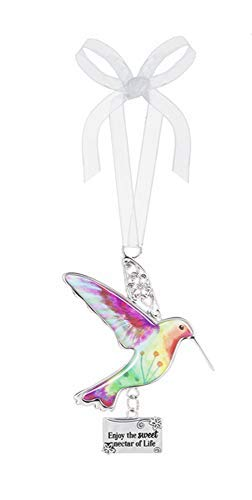 Ganz Decor Life is Beautiful Hummingbird Ornament 3.75″ H (Enjoy The Sweet Nectar of Life)