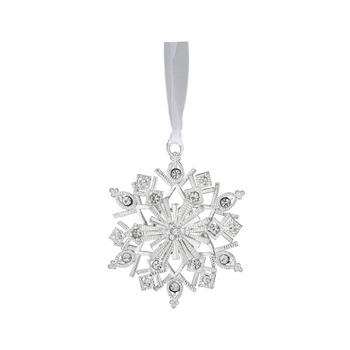 Reed & Barton Lunt Jeweled Snowflake Ornament, 3-Inch