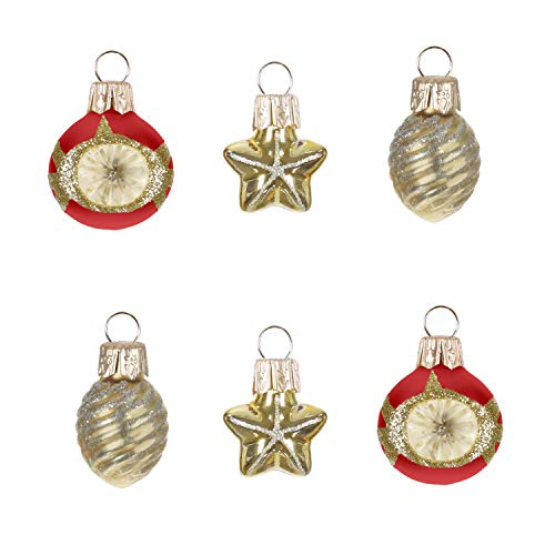 Hallmark Keepsake Mini Christmas Ornaments 2019 Miniature Decorative Baubles Glass Set of 6, Set