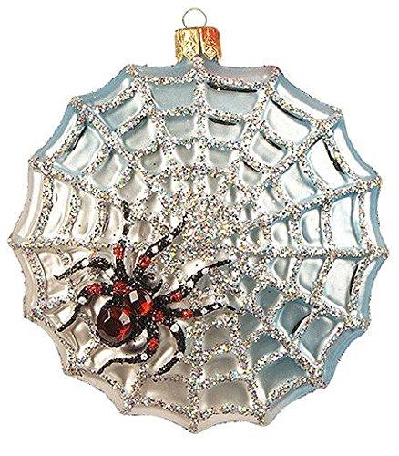 Pinnacle Peak Trading Company Spider Trap Web Polish Glass Halloween Tree Ornament Decoration Made in Poland