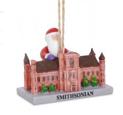 Cape Shore Santa Visiting Smithsonian Washington DC Landmark Christmas Holiday Ornament
