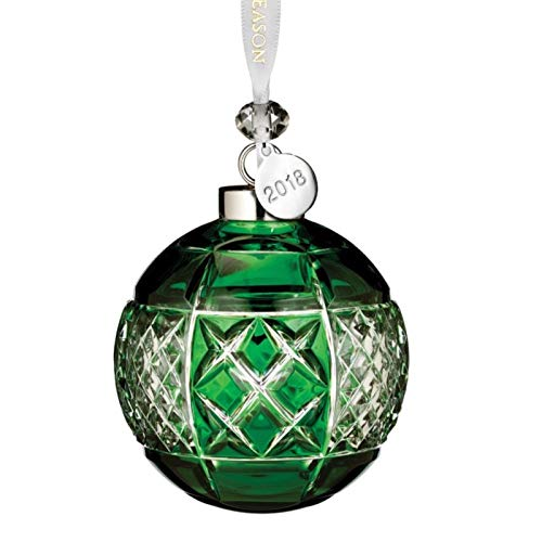 Waterford Emerald Ball Ornament 3.3″