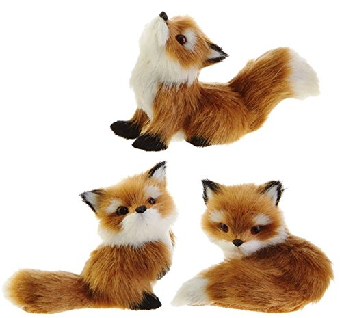 RAZ Imports Red Fox Ornaments (Set of 3) 3510103