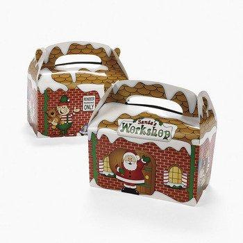 Fun Express Dozen Santa's Workshop Cardboard Treat Boxes