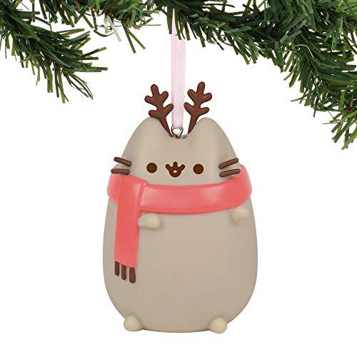 Department 56 Pusheen Reindeer Ho 3 in Hanging Ornament, 3″, Multicolor
