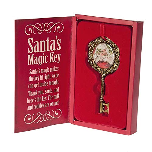 "Christmas Holiday ""Santa's Magic Key"" Golden Ornament – 5″ x 2.5″"