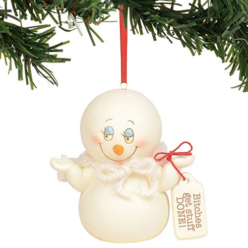 Department 56 Snowpinions Btches Get Stuff Done Hanging Ornament, 3″, Multicolor