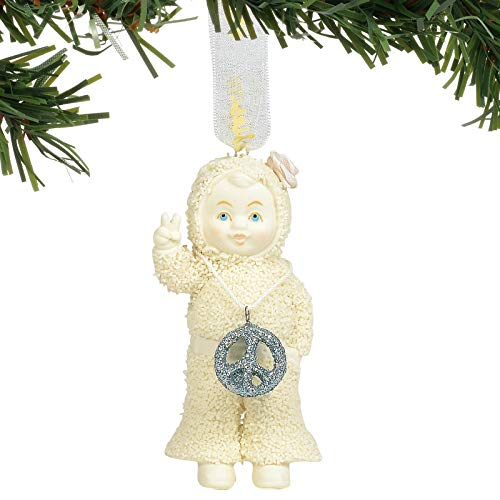Department 56 Snowbabies Peace and Love Hanging Ornaments, 3.25″, Multicolor