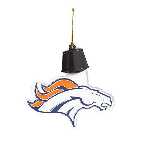 Team Sports America Denver Broncos Radiant Lit Acrylic Team Icon Ornament