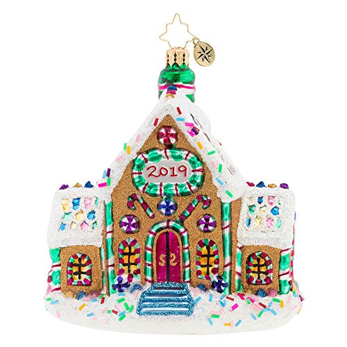 Christopher Radko Gingerbread Dream Home 2019 Dated Christmas Ornament