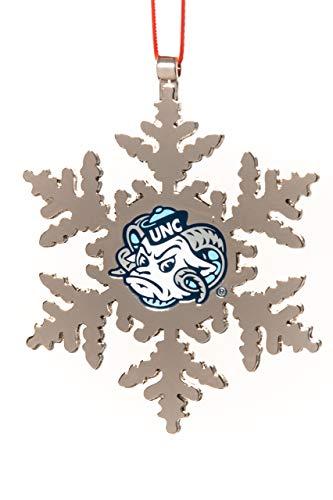 Collegiate Pulse UNC Tarheels NCAA RAMESES Snowflake Christmas Ornament