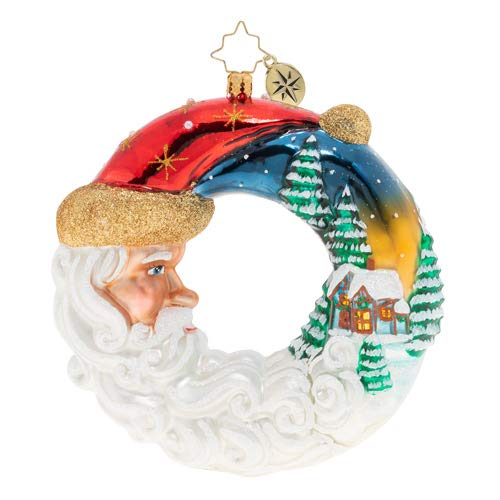 Christopher Radko Santa's Silent Night Wreath Christmas Ornament