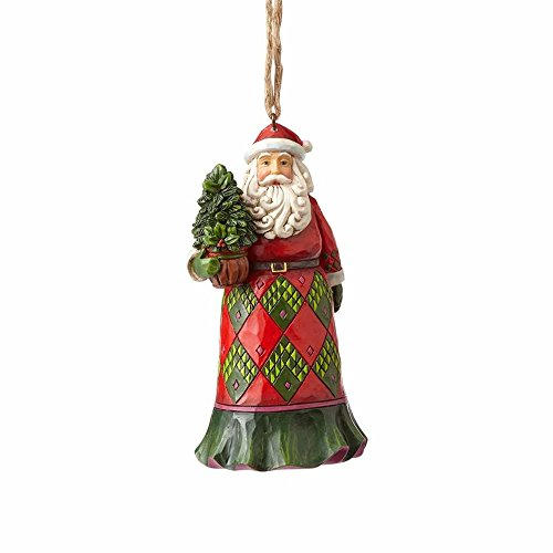 Enesco-Gift Evergreen Santa Ornament