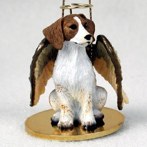 Conversation Concepts Brittany Brown & White Spaniel Pet Angel Ornament