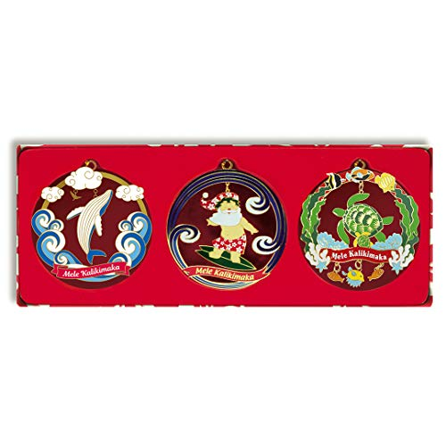 Island Heritage Hawaiian Ocean Joy 3-Pack Collectible Metal Christmas Ornaments