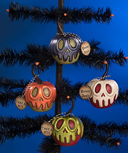 Bethany Lowe Poison Apple Ornaments Set of 4