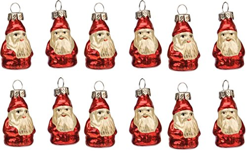 Primitives by Kathy Mini Belnickle Santa 12 Christmas Ornaments Set