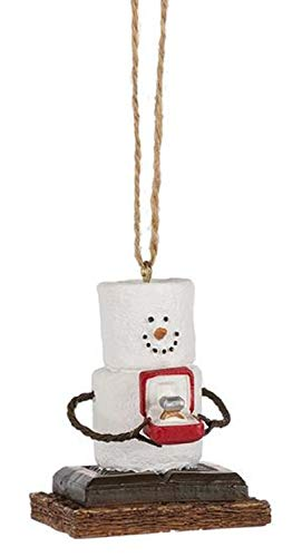 MIDWEST-CBK S'Mores Man Presenting an Engagement Ring Christmas/Everyday Ornament