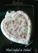BELLEEK 2003 OUR FIRST CHRISTMAS TOGETHER-HEART