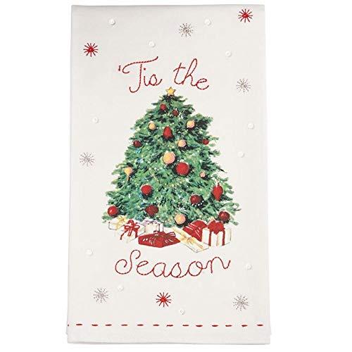 Mud Pie Christmas Tree Tis The Season Vintage Inspired Tea Towel