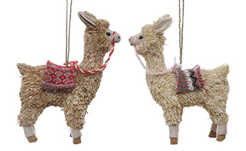 Creative Co-op Western Llama Hanging Ornaments – Set of 2