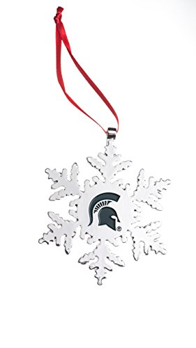 Collegiate Pulse Michigan State Spartans NCAA Snowflake Christmas Ornament