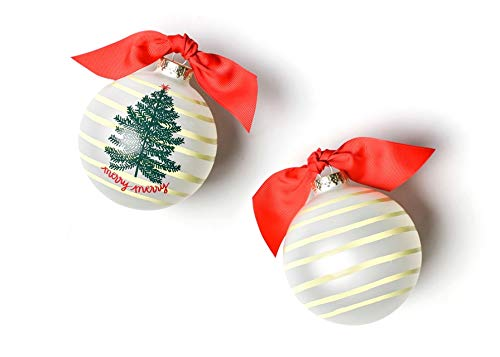 Coton Colors Merry Tree Glass Ornament
