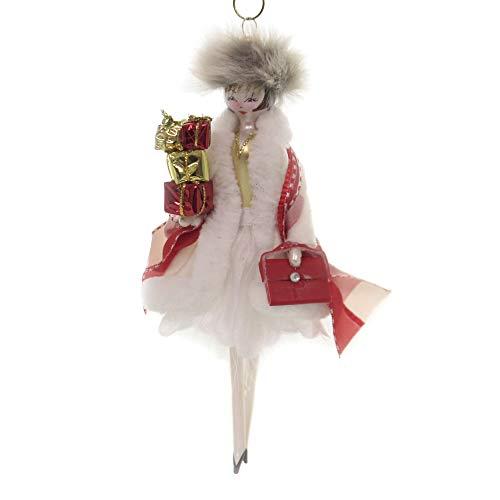 De Carlini Shopper Lady Glass Italian Christmas Ornament Do7533