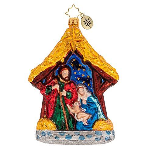 Christopher Radko Asleep in The Manger Christmas Ornament, Multicolor