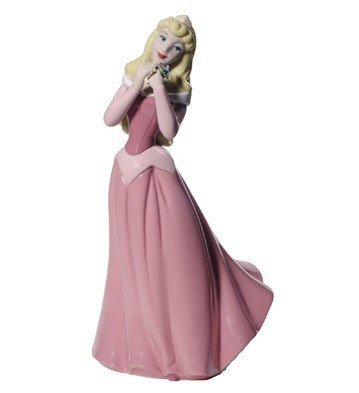 Nao by Lladro Disney Princess Aurora From Sleeping Beauty Porcelain Figurine Pink