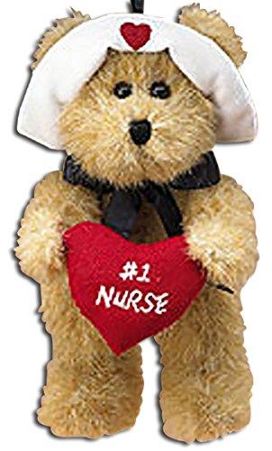Boyds Plush Teddy Bear #1 Nurse Ornament