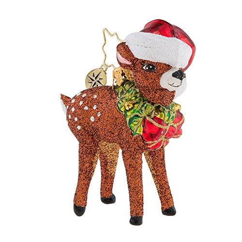 Radko Oh, Deer Me! Reindeer Little Gem Glass Ornament made in Poland