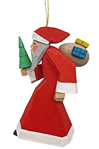 Alexander Taron 083051-1H Dregeno Ornament – Santa with Gifts – 3.5″ H x 2″ W x 1.5″ D Brown