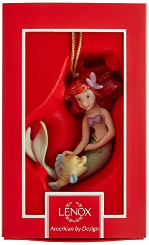 Lenox Walt Disney The Little Mermaid Ariel 's Best Friend Ornament Porcelain Ivory Ornament 24 K gold New