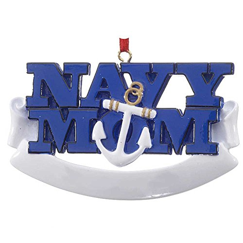 Personalized Navy Mom Christmas Tree Ornament 2019 – Mothers of Sailors Armed Forces Fighter Anchor Naval Military Brave Proud Pray Patriotic USA Year – Free Customization